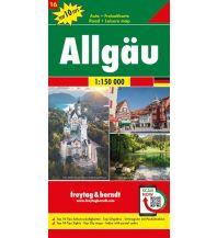 f&b Straßenkarten f&b Auto + Freizeitkarte 16, Allgäu 1:150.000, Top 10 Tips Freytag-Berndt und ARTARIA