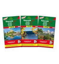 f&b Straßenkarten Österreich-Set, Autokarte 1:250.000, 3 Blätter in Kunststoff-Hülle Freytag-Berndt und ARTARIA