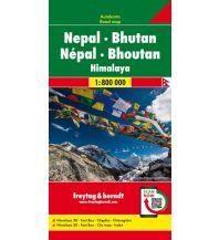 f&b Straßenkarten Nepal - Bhutan, Autokarte 1:800.000 Freytag-Berndt und ARTARIA