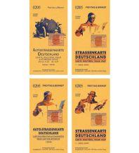 Deutschland, Autokarte mit Retrocover 1:500.000 Freytag-Berndt und ARTARIA