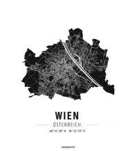 Wien, Designposter, Hochglanz-Fotopapier Freytag-Berndt u. Artaria KG Planokarten