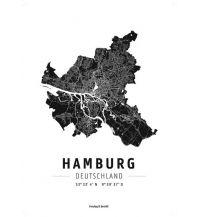 Hamburg, Designposter, Hochglanz-Fotopapier Freytag-Berndt u. Artaria KG Planokarten
