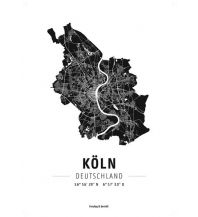 Köln, Designposter, Hochglanz-Fotopapier Freytag-Berndt u. Artaria KG Planokarten