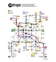 Metropa - Das europäische Superschnellbahnnetz, 20 Postkarten Freytag-Berndt und ARTARIA