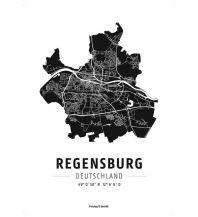 Regensburg, Designposter, Hochglanz-Fotopapier Freytag-Berndt u. Artaria KG Planokarten