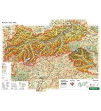 Schreibtischunterlage DUO, Schulhandkarte Tirol 1:400.000 Freytag-Berndt und ARTARIA