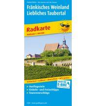 f&b Wanderkarten Fränkisches Weinland - Liebliches Taubertal, Würzburg - Tauberbischofsheim Freytag-Berndt und ARTARIA