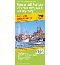 f&b Wanderkarten Hansestadt Rostock, Ostseebad Warnemünde Freytag-Berndt und ARTARIA