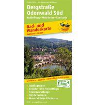 f&b Wanderkarten Bergstraße Odenwald Süd, Heidelberg - Weinheim - Eberbach Freytag-Berndt und ARTARIA