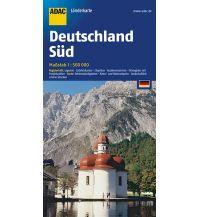 Straßenkarten Deutschland ADAC LänderKarte Deutschland Süd 1:500 000 ADAC Verlag