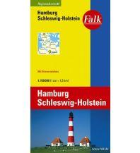 Straßenkarten Falk Regionalkarte Deutschland Blatt 1 Hamburg, Schleswig-Holstein 1:150 000 Falk Verlag AG