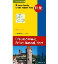 Falk Regionalkarte Deutschland Blatt 8 Braunschweig, Erfurt, Harz 1:15 Falk Verlag AG