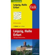 Straßenkarten Falk Regionalkarte Deutschland Blatt 9 Leipzig, Halle, Erfurt 1:150 000 Falk Verlag AG
