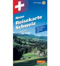 Schweiz Neue Reisekarte Strassenkarte 1:200 000 Hallwag Verlag
