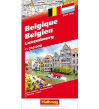 Straßenkarten Luxemburg Belgien /Luxemburg Hallwag Verlag
