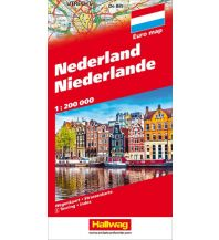 Straßenkarten Niederlande Niederlande Hallwag Verlag