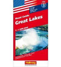 Straßenkarten Great Lakes Hallwag Verlag