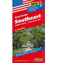 Straßenkarten Southeast Hallwag Verlag