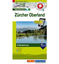 Wanderkarten Schweiz & FL Zürich Oberland Hallwag Verlag
