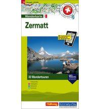 Wanderkarten Schweiz & FL Hallwag Wanderkarte Zermatt Hallwag Verlag