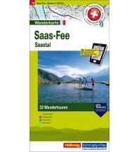 Wanderkarten Schweiz & FL Hallwag Wanderkarte Saas Fee Hallwag Verlag