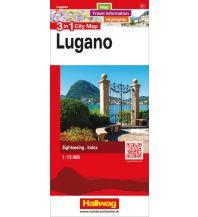 Stadtpläne Lugano 3 in 1 City Map Hallwag Verlag