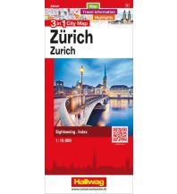 Stadtpläne Zürich 3 in 1 City Map Hallwag Verlag