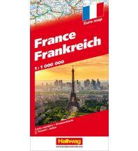 Straßenkarten Frankreich Strassenkarte 1:1 Mio. Hallwag Verlag