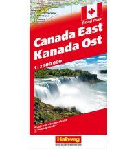 Straßenkarten Kanada Strassenkarte Ost 1:2.5 Mio Hallwag Verlag