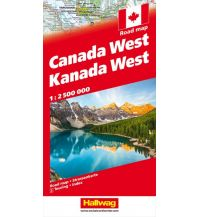 Straßenkarten Kanada Strassenkarte West 1:2.5 Mio Hallwag Verlag