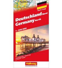 Straßenkarten Deutschland Nord Strassenkarte 1:500 000 Hallwag Verlag