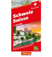 Straßenkarten Schweiz 2020 Strassenkarte 1:303 000 Hallwag Verlag