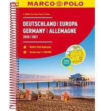Reise- und Straßenatlanten MARCO POLO Reiseatlas Deutschland 2020/2021 1:300 000, Europa 1:4 500 000 Mairs Geographischer Verlag Kurt Mair GmbH. & Co.
