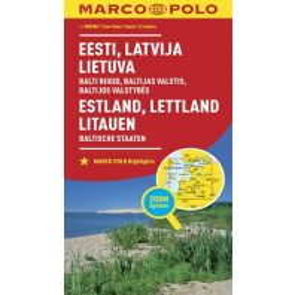 Straßenkarten MARCO POLO Länderkarte Estland, Lettland, Litauen, Baltische Staaten 1: 800 000 Mairs Geographischer Verlag Kurt Mair GmbH. & Co.