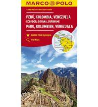 Straßenkarten MARCO POLO Kontinentalkarte Peru, Kolumbien, Venezuela 1:4 000 000 Mairs Geographischer Verlag Kurt Mair GmbH. & Co.