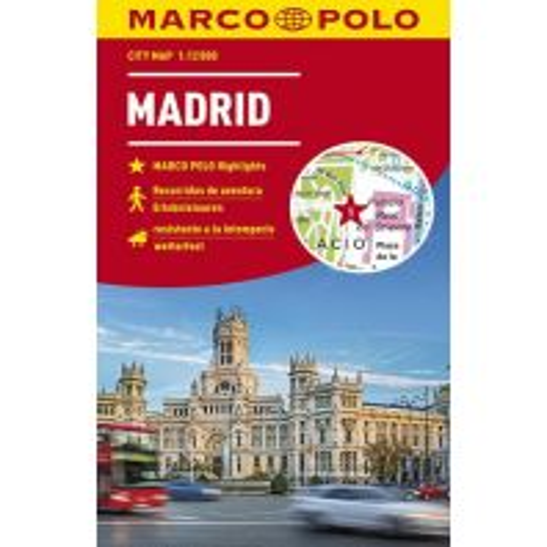 Stadtpläne MARCO POLO Cityplan Madrid 1:12 000 Mairs Geographischer Verlag Kurt Mair GmbH. & Co.