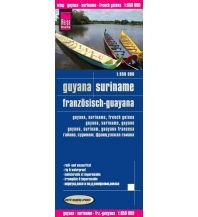 Straßenkarten Reise Know-How Landkarte Guyana, Suriname, Französisch-Guayana (1:850.000) Reise Know-How