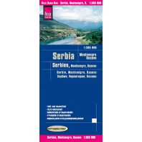 Straßenkarten Reise Know-How Landkarte Serbien, Montenegro, Kosovo (1:385.000) Reise Know-How