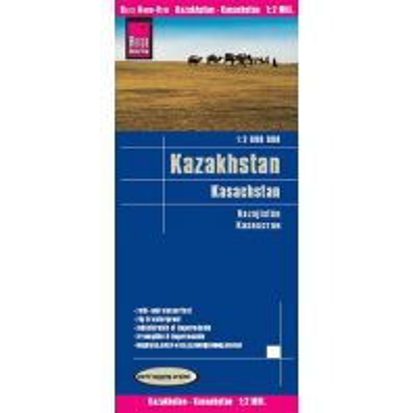 Straßenkarten Reise Know-How Landkarte Kasachstan (1:2.000.000) Reise Know-How