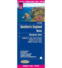 Straßenkarten World Mapping Project Reise Know-How Landkarte Südengland, Wales (1:400.000). Southern England, Wales / Angleterre Süd, Pays de Galles / Inglaterra sur, Gales Reise Know-How