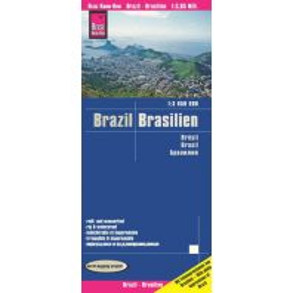 Straßenkarten Reise Know-How Landkarte Brasilien / Brazil (1:3.850.000) Reise Know-How