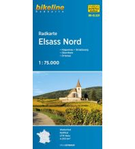 Radkarten Bikeline-Radkarte RK-ELS01, Elsass Nord 1:75.000 Verlag Esterbauer GmbH