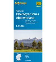 Radkarten Bikeline-Radkarte RK-BAY16, Oberbayerisches Alpenvorland 1:75.000 Verlag Esterbauer GmbH