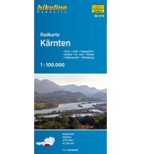 Radkarten Bikeline-Radkarte RK-KTN, Kärnten 1:100.000 Verlag Esterbauer GmbH