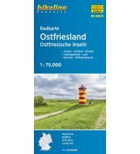 Radkarten Bikeline Radkarte RK-NDS01, Ostfriesland, Ostfriesische Inseln 1:75.000 Verlag Esterbauer GmbH
