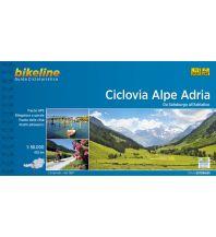Radführer Bikeline Guida Cicloturistica Ciclovia Alpe Adria 1:50.000 Verlag Esterbauer GmbH