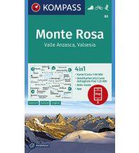 Wanderkarten Schweiz & FL Kompass-Karte 88, Monte Rosa 1:50.000 Kompass-Karten GmbH
