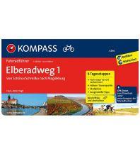 Radführer Kompass-Fahrradführer 6296, Elberadweg 1: Von Schöna/Schmilka nach Magdeburg Kompass-Karten GmbH