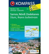 Inselkarten Ägäis Kompass-Karte 253, Sámos, Nördlicher Dodekanes 1:50.000 Kompass-Karten GmbH