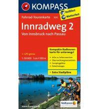 Radkarten Kompass-Fahrrad-Tourenkarte 7015, Innradweg 2 - von Innsbruck nach Passau 1:50.000 Kompass-Karten GmbH